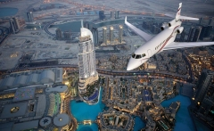 Dubai-Aerial-VIew-With-A-Plane-In-It
