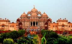 Hindu Temple Of Akshardham In Delhi India HD Desktop Background