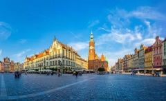 WROCLAW, POLAND - JULY 29: Old City Hall in Wroclaw, Poland on July 29, 2014. Wroclaw old and a very beautuful city in Poland