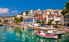 pictorial harbors of small greek islands - Skiathos