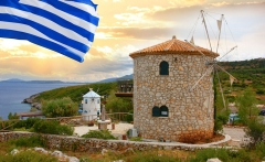 Traditional-Wind-Mills-in-Greece,-Zakynthos-Island