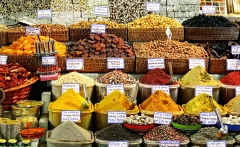 Spices on display on sale at market