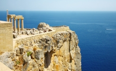 Old-Castle-in-the-Lindos-town-Rhodes-Greece
